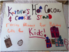 Karina's hot cocoa and cookie stand