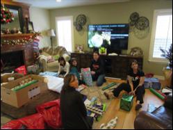Our Volunteers Wrap Presents