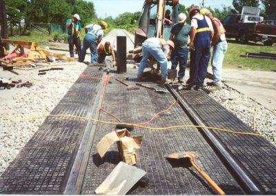 Rail-Way rubber crossing photo 2